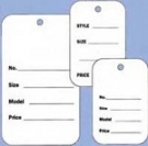 Non-Perforated Tags - (box of 1000)