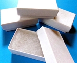 White Cotton Filled Jewelry Boxes