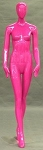 Glossy Pink Egghead Female Mannequin
