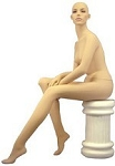 Fleshtone Female Sitting Pose Mannequin