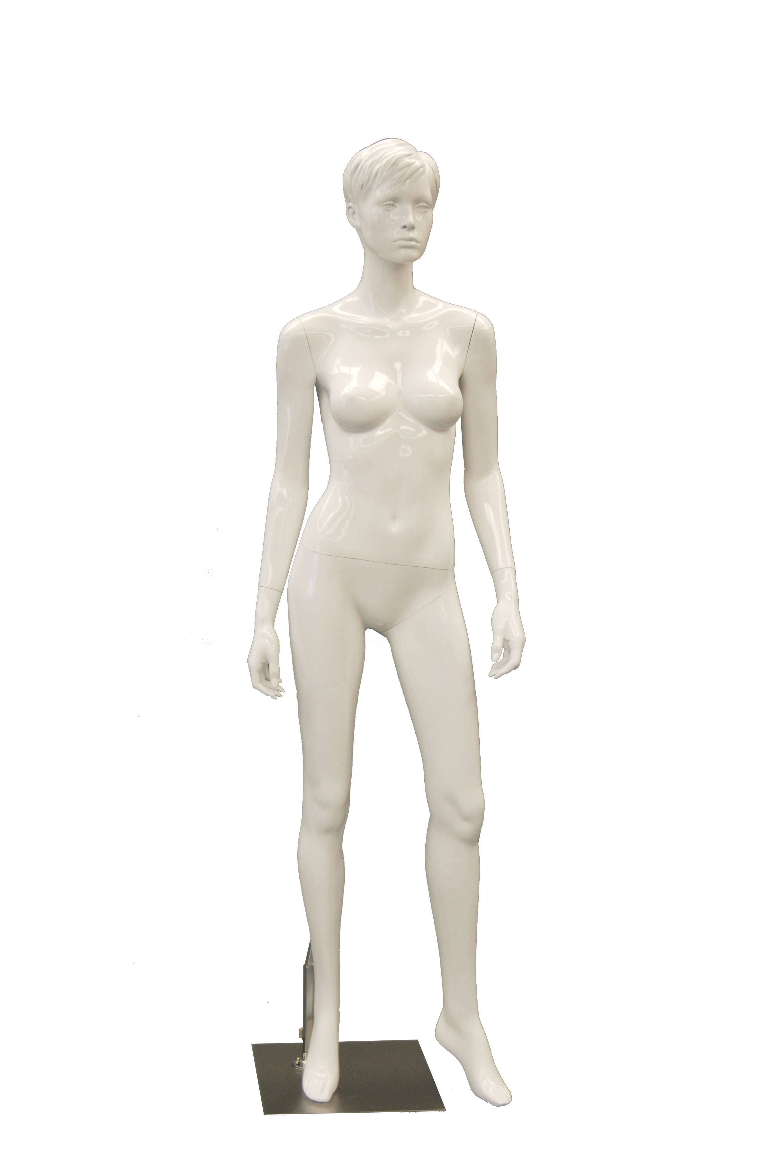 Glossy White Female Mannequin Abby Series