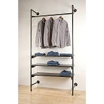 Anthracite Grey Pipeline Outrigger Wall Unit (set of 2 poles)