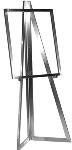 Floor Standing Folding Easel - Satin Chrome