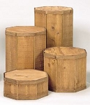 4 pc Pedestal Set (shown in Oak Stain)