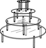 Acrylic Four Round Table Set
