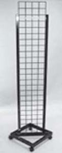 Black Grid Tower Unit with Casters