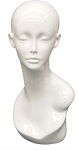 Female Mannequin Head - Glossy White