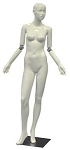 Glossy White Flexible Arm Female Mannequin