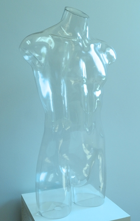 Unbreakable Clear Male Torso Form