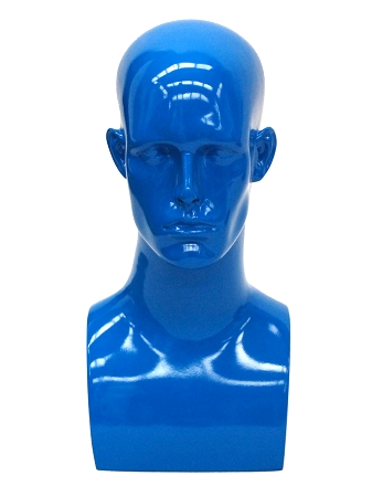 Male Mannequin Head Blue