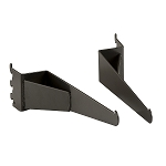 Matte Black Shelf Brackets for Anthracite Grey Pipeline Wall Systems (2 Sets)