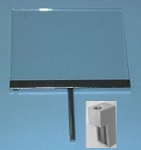 Plexi Cardholder with Satin Chrome Channel,Stem, Magnetic Clamp