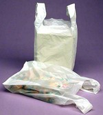 High Density White Bags - T Handle