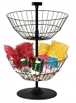 2 Basket Countertop Spinner - Black Basket, Sliver Pole