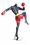 Headless Male Kick Boxing Mannequin