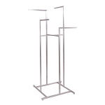 Satin Nickel 4-Way Boutique Rack