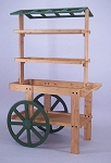 Wood Display Cart