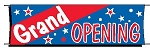 Giant 3'x10' Grand Opening Banner - Red-White-Blue