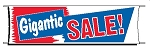 Giant 3'x10' Gigantic Sale Banner - Red-White-Blue