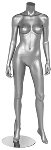 Glossy Silver Headless Female Mannequin