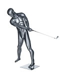 Abstract Male Golfing Mannequin