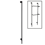 Matte Black Pipeline Wall Standard (Single Pole)