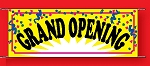 Large 3'x8' Grand Opening Banner - Confetti Collection