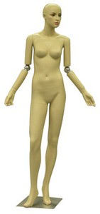 Fleshtone Flexible Arm Female Mannequin
