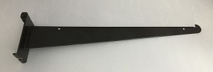 "Closeout - Damaged/Used 14"" Black Gridwall Shelf Bracket - Split Style"