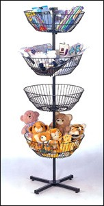 4-Basket Revolving Display