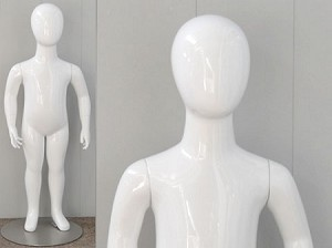 Glossy White 2 Year Old Egghead Mannequin