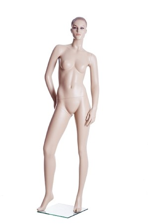 Fleshtone Female Mannequin, Sculptured Hair