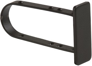 Matte Black Endcap for Rectangular Tubing