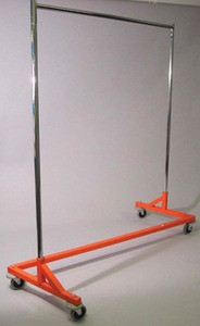 "Rental Z-Rack with Orange Base - 64""L x 24""W x 70""H"