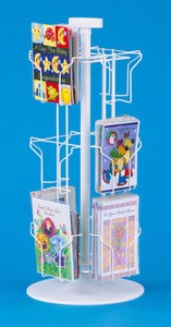 12-Pocket Greeting Card Counter Rack