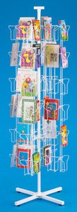 72-Pocket Greeting Card Floor Rack