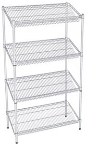 "24X48X74"" Post & Shelf Unit with Slanted Shelves"