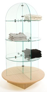Glass Display Rotating Merchandiser ( FOB Factory)
