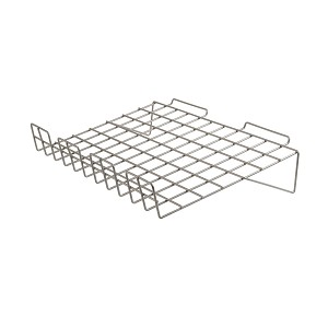 Slatwall Only - Wire Slanted Shelf - Box of 6 (Choose Color)