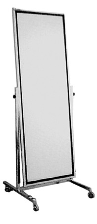 Adjustible Tilt Single Mirror with Casters - Truck Shipment