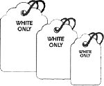 White Unstrung Merchandise Tags (bx 1000)