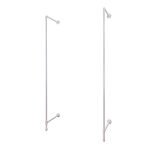 Glossy White Pipeline Outrigger Wall Unit (set of 2 poles)