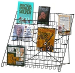 6-Shelf Fold-Flat Countertop Literature Display Rack