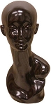 Female Mannequin Head - Black