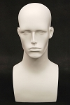 Male Mannequin Head - White