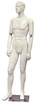 Glossy White Flexible Arm Male Mannequin