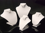 White PU Leather Neck Forms