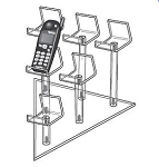 6 Pedestal Easel Group