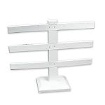 White Leatherette 3 Bar Earring Display