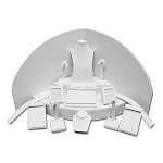 White Leatherette 18 Piece Jewelry Display